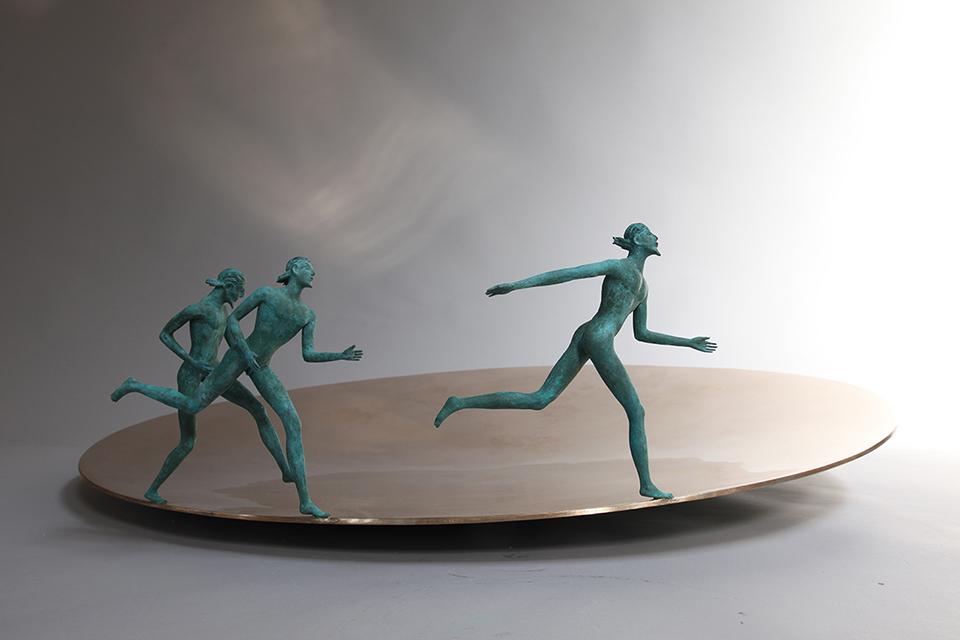 Bronze,34x100x100cm,2011